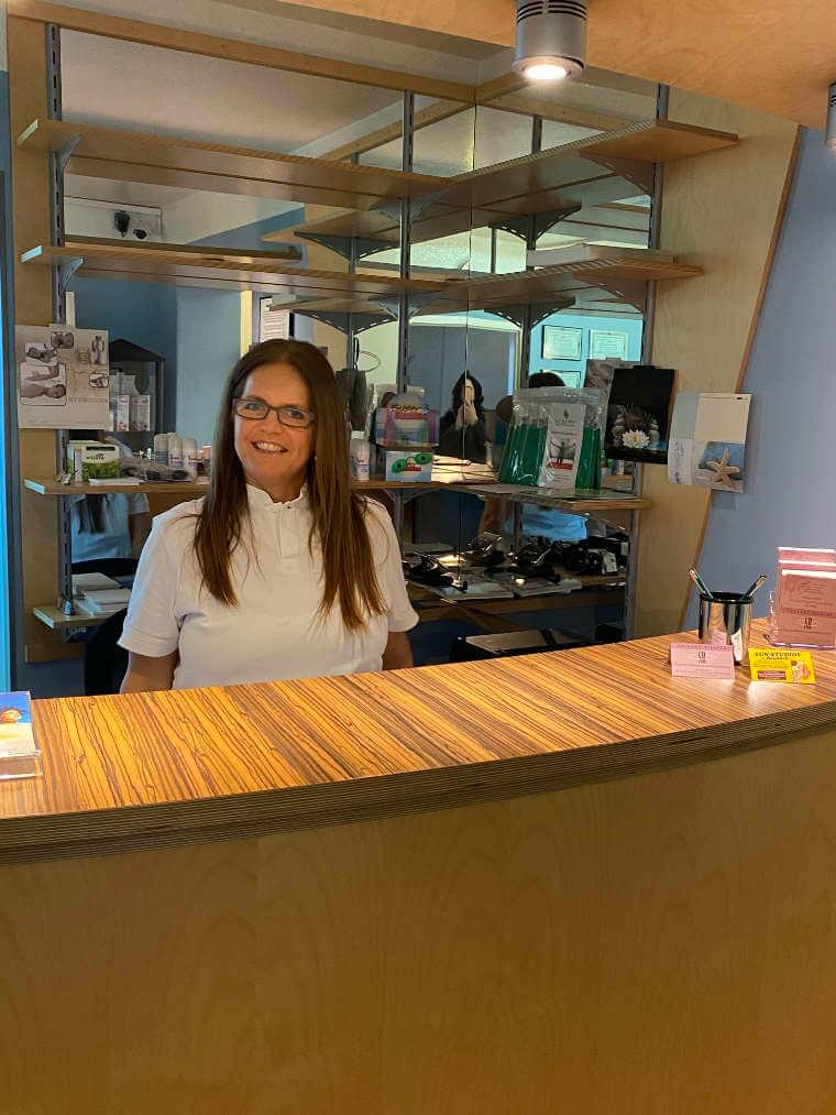 Rezeption der Praxis für Physiotherapie und Osteopathie in Reisbach